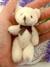 10 to 20 Mini Off White Teddy Bear with Bow Party Favours 80mm/8cm