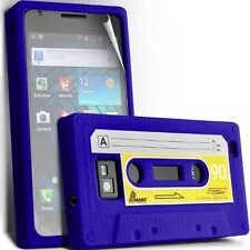 CASSETTE SILICONE CASE SKIN COVER + SCREEN GUARD FOR SAMSUNG I9100 GALAXY S2