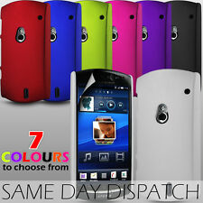HARD BACK CASE SKIN COVER & SCREEN PROTECTOR FOR SONY ERICSSON XPERIA NEO V