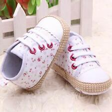 Kids Toddler Baby Girl Lovely Floral Soft Sole Crib Shoes Sneakers 0-12 Months