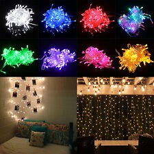 10M 100 LED Christmas Tree Fairy White Colorful String Party Light Lamp Xmas US