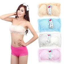Soft Women Ladies Full Lace Stretch Padded Boob Tube Top Strapless Bandeau Bra
