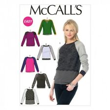 McCalls Ladies Easy Sewing Pattern 6992 Pullover Sweater Tops (McCalls-6992-M)