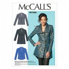 McCalls Ladies Easy Sewing Pattern 7288 Fitted Unlined Jackets with Cup Sizes...