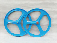 3 Spoke 700c Fixie / Single Speed Road Bike Wheel Front or rear blue