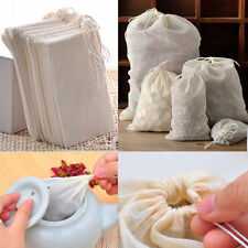 10 /50 / 100 Pack Reusable Natural Cotton Muslin Drawstring Bags Tea Soap Herbs