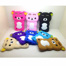 1pc Soft 3D Cute Bear Gel Rubber Silicone Case Cover For Ipod Touch 5 6 6th Gen