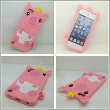 Pink Soft 3D Cute Crown Pig Gel Silicone Case Cover For Ipod Touch 5 5G 6 6G Gen