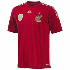 adidas Spain World Cup WC 2014 Home Soccer Jersey Red / Gold New Kids - Youth