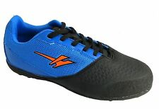 Gola Vador Vx Older Boy's Black & Blue Lace Up Astrorurf Football Trainers New