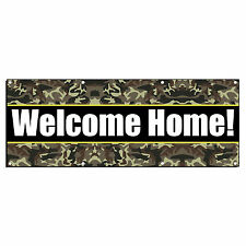 WELCOME HOME! CAMO MILITARY 13oz Vinyl Banner Sign