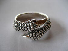 DRAGON CLAWS RING SKULL BIKER SILVER RING 925 GENUINE SILVER / 293