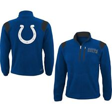 Indianapolis Colts Youth 1/4 Zip Micro Fleece Jacket - Blue