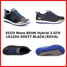 New Ecco Mens Golf Shoes BIOM Hybrid 2 GTX Black Spikeless EU39 40 41 42 43 $220