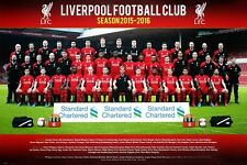 Liverpool Football Club Team Photo 2015/16 LFC Poster 91.5x61cm