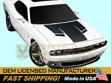 2015 2016 Dodge Challenger RT R/T SXT Hood Blackout Decals Stripes Graphic
