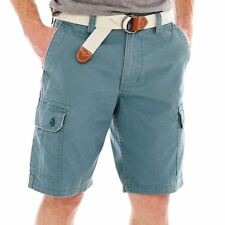 U.S. Polo Assn. Belted Twill Cargo Shorts MSRP $56 Size 42W New Laguna Blue