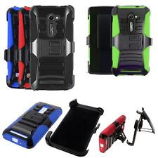 Phone Case For Asus Zenfone 2E 4G LTE Rugged Cover Stand Holster Belt Clip