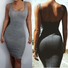 WOMENS SLIM SEXY BANDAGE BODYCON DRESS LADIES PARTY PENCIL DRESS SIZE 6-14