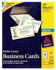 Matte Ivory Two Side Printable Business Cards Avery 27882 Ink Jet High Qualitity