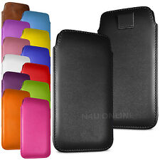 Stylish PU Leather Pull Tab Case Cover Pouch For Vodafone Smart Speed 6