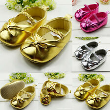 Baby Girls Shoes Infant Toddler Girls Shoes Prewalker PU Leather Shoes 3 Colors
