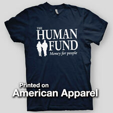 HUMAN FUND George Costanza SEINFELD Curb Your Larry AMERICAN APPAREL T-Shirt