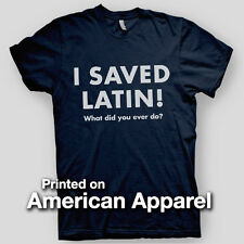 I SAVED LATIN rushmore Bottle Rocket Anderson Zissou AMERICAN APPAREL T-Shirt