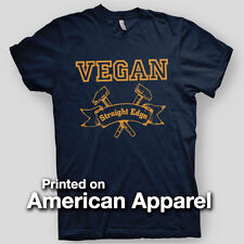 VEGAN STRAIGHT EDGE Schism JUDGE HAMMERS vegetarian AMERICAN APPAREL T-Shirt