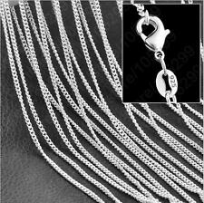Wholesale Lots 5pcs LF 925 Silver Plated 1.4mm Rolo Curb Chain Necklace 16-30""