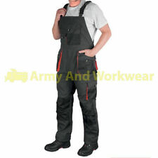 Bib And Brace Overall Work Trousers Mens Multi Knee Pad  & Combat Pockets Pants