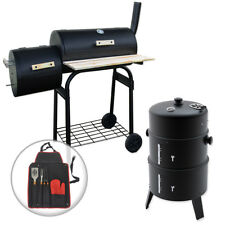 OUTDOOR GARDEN BBQ SMOKERS PORTABLE SMOKING COOKING PATIO BARBEQUE GRILL COAL