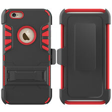 For Apple iPhone 6 6s Plus Hard Belt Clip Holster with Stand Tough Case Cover