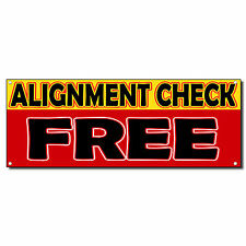 Alignment Check Free 13 Oz Vinyl Banner Sign With Grommets