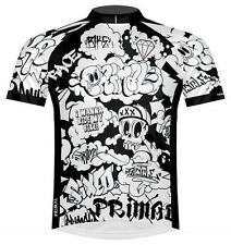 Primal Wear Black Book Graffiti Cycling Jersey Mens bicycle bike with DeFeet Sox