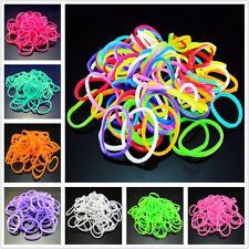 Free DIY 600PCS RAINBOW Rubber Loom Bands Refill Bracelet Making 10 HOT colors