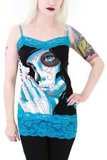 TOO FAST GOTHIC ZOMBIE GIRL PUNK EMO ROCKABILLY T SHIRT TANK TOP TUNIC SHIRT