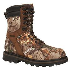 """ROCKY 9"""" men's WIDE Waterproof 600g Insulated Hunting Work Boots Realtree Camo"""