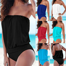 One-piece Sexy Women Strapless Bikini Bandage Bodysuit Beach Swimwear Swimsuit