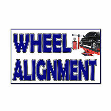 Wheels Alignment Corrugated Car Door Magnets Magnetic Signs-QTY 2