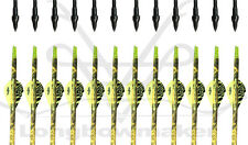 "28-32"" Camo Yellow Vanes Carbon Arrow Screw Points SP 500 Longbowmaker Archery"