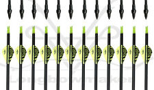 "Longbowmaker Archery Hunting 32""Yellow Vanes Carbon Arrow SP 500 for Practicing"