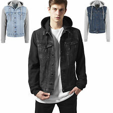 URBAN CLASSICS HOODED DENIM FLEECE JEANS JEANS JACKET HOODED JACKET S-XXL