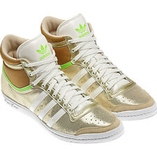 Adidas Top Ten Hi Sleek W Shoes Trainers Size. 36-40 Gold Women's New