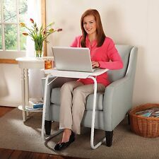 Table-Mate The Adjustable Portable Folding Table Laptop Desk Stand White NEW