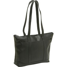 Le Donne Leather Double Strap Med Pocket Tote 4 Colors