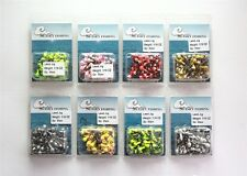 50 NEW 1/16 oz Round Jigheads Jigs Barb Two-tone Seasky Fishing Lures 8 Colors