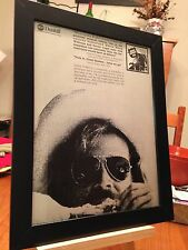 "FRAMED ORIGINAL & RARE JIMMY BUFFETT ""A1A"" LP ALBUM CD PROMO AD + FREE BONUS AD!"