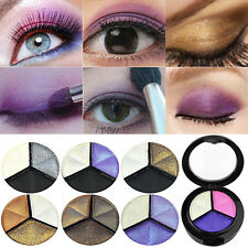 3 Colors Eyeshadow Natural Smoky Cosmetic Eye Shadow Palette Set Make Up Grace