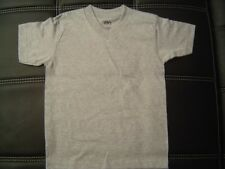 3 NEW SHAKA KIDS PLAIN V-NECK T-SHIRT HEATHER GRAY BLANK S-XL 3PC